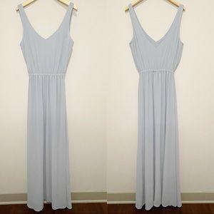 Show Me Your Mumu Kendall Maxi Dress Steel Blue L
